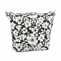 Organizer Black Flower for Classic Handbag Humbag