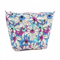 Organizer Blue Flower for Classic Handbag Humbag