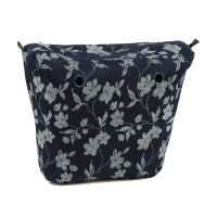 Organizer Navy Flower for Classic Handbag Humbag